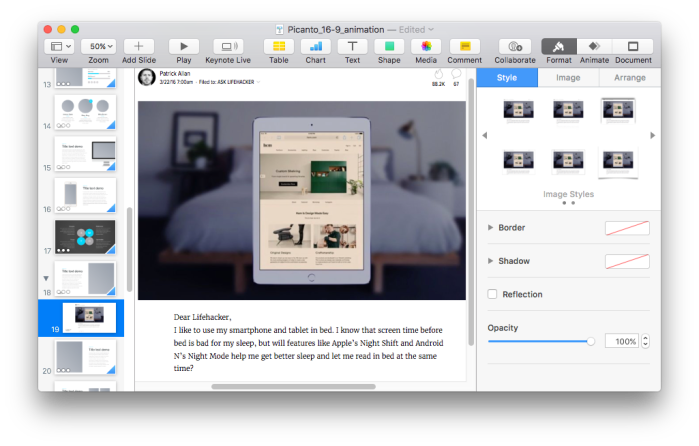 add pdf to keynote