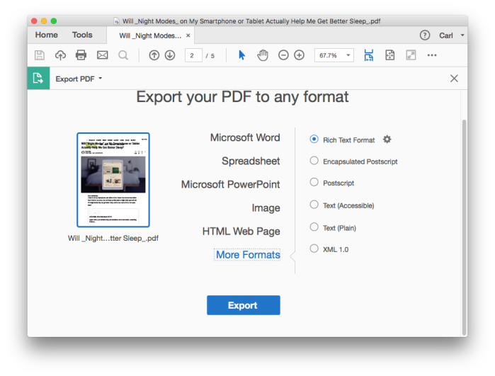EXPORT PDF TO EDITABLE FORMATS(1)